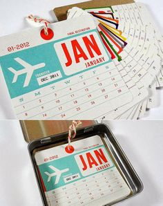 Creative Calendar Design Ideas For 2014 - Calendar in Tin Can