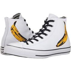 36bfcfbc25a1 Converse Chuck Taylor All Star Andy Warhol Hi (White Black Freesia) Shoes