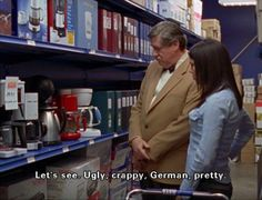 how i also choose and buy appliances. gilmore girls