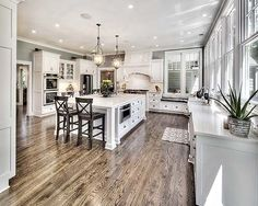 Kitchen Addition - Love everything about this kitchen. The only thing I would change is paint the island a medium to dark gray. ❤❤❤