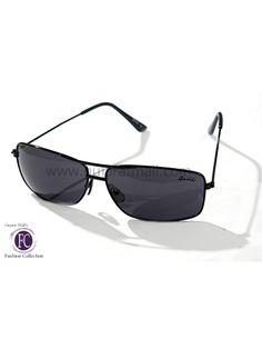 Buy Sunglasses Designer Stylish Look Black Metallic Frame Black Lens • GujaratMall.com