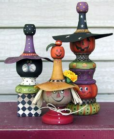 Halloween Trio finials