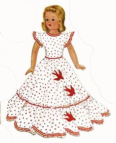 McCalls 1015 doll clothes pattern for Little Lady Dolls by Effanbee. for 15 inch doll. A 1940s pattern.
