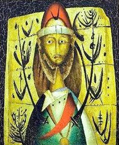 ALEXIS PRELLER 'The King's Head' Oil 60 x 50 cm
