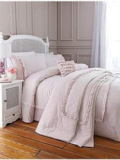 Shabby Chic Pretty Pink Ruffle standard pillowcase pair #HOFatHOME