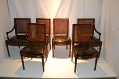 French Louis XVI Directoire Style Six dining room chairs Circa1930s'