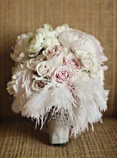feather flower bouquet