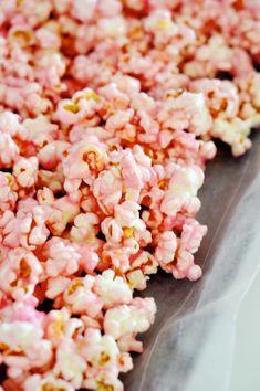 Pink popcorn. Sugary goodness!!!