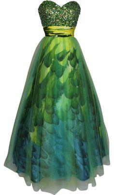 peacock--prettiest. prom dress. ever!!!