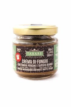 Porcini Mushrooms and White Truffle Cream. To spice up your pasta or original and delicious bruschettas. Try it also as dressing for white meat (chicken, fish, wild game meat). #pasta #condiment #sauce #meat #gourmet #sicily #sicilianfood #siciliancuisine