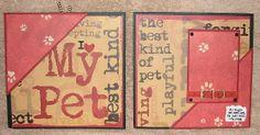 #papercraft #scrapbook #minialbum: Dog Album - Page 8-9 (made by Stephanie Hackney/PaperCrafter's Corner)