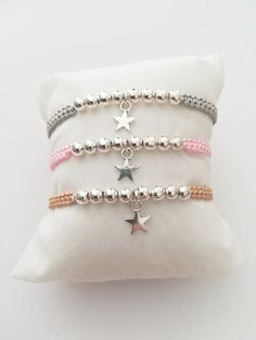 Woman Bracelet, Girl Bracelet, Adjustable Bracelet, Macrame Bracelet, Star - Women's style: Patterns of sustainability Diy Jewelry, Beaded Jewelry, Jewelery, Handmade Jewelry, Jewelry Making, Fashion Jewelry, Jewelry Rings, Mirror Jewellery, Silver Jewelry