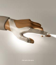Fiber optics light glove (okay, not futuristic but looks cool) Emily Baldwin | Future of Possible | Socia Media Atlanta #futurism #futuristic #Futuretech