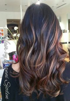Full head of balayage highlights to create a soft blended Ombre`. Hair ...