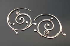 Silver Spirals Earrings, Sterling silver, Rachel Wilder handmade Jewelry by rachelwilder on Etsy