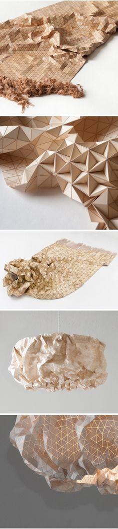 Origami paper fabric