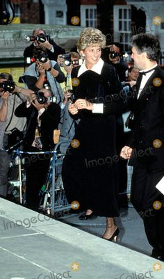"13 May 1993 Princess Diana ""Charity Concert"" Smith Square, London Photo: Dave Chancellor-alpha-Globe Photos Inc"