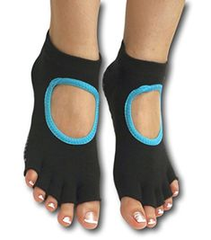LovesAll High Grip NonSlip Toeless Yoga Socks BlackTeal Size Large 9105 -- Visit the image link more details.  This link participates in Amazon Service LLC Associates Program, a program designed to let participant earn advertising fees by advertising and linking to Amazon.com.