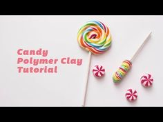 How to make Rainbow Lollipop and Candy - Polymer Clay Tutorial 棒棒糖糖果黏土製做教程 - YouTube