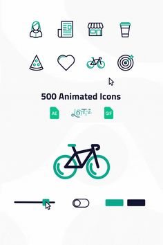 500 Animated Icons - 500 Interactive, animated web icons for the unforgettable website experience. Interaktives Design, App Icon Design, Web Design Tips, Web Design Trends, Web Design Inspiration, Good Logo Design, Flat Design, Best Web Design, Site Design
