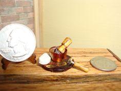 Dollhouse Miniature 1:12 Shaving Kit Soap Sink Prop Handcrafted OOAK Oppi #J7 #HandcraftedMiniaturesbyOppi