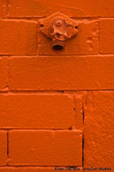 Orange Wall Patina - Pared Naranja - Anahi DeCanio @ ArtyZen Studios