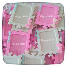 ♥ Tiryaki Hobi ♥: Keçe Çerçeve Magnet  -------   felt frames