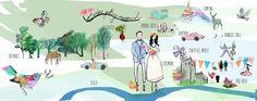 Gerry and Edels, festival themed map du joy x