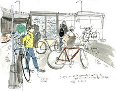 The Seattle Sketcher meets bike commuter, Caitlin Kehoe