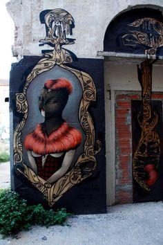 MISS VAN Collab with CIRA _ Outdoor Mural _ Barcelona, Spain