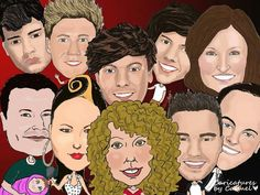 We had the Oscar Selfie with Ellen and all the A listers, I decided to create my own. Check out my selfie with which includes #OneDirection, Imelda May and Brian O Driscol #artbyCarmel  www.caricaturesByCarmel.com