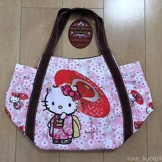 bc0182456 F/S Hello Kitty Dearisimo Japanese Kimono Sakura Umbrella Bag from Kyoto Japan  Hello Kitty