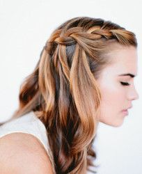 Waterfall Braid and more diy hairstyles
