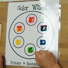 I love this!  I usually do mixing play dough to learn the color wheel with Kindergarteners, but I may try this next year!