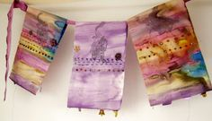 Watercolor prayer flags posted on Prayer Flag Project...gorgeous!