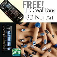 FREE L'Oreal Paris 3D Nail Art Stickers Product Tests - http://gimmiefreebies.com/toluna-product-test/