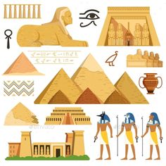 Pyramid of egypt. Cultural objects and symbols of egyptians royalty-free pyramid of egypt history landmarks cultural objects and symbols of egyptians stock vector art & more images of egypt Ancient Art, Ancient Egypt, Ancient History, Art History, History Of Egypt, History Icon, Egypt Design, Egypt Culture, Egypt Art