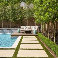 Privacy landscaping, landscaping around pool, landscaping ideas, small backyard pools, small pools Backyard Pool Designs, Small Backyard Pools, Swimming Pools Backyard, Swimming Pool Designs, Backyard Ideas, Pergola Ideas, Garden Ideas, 8 Pool, Small Pools