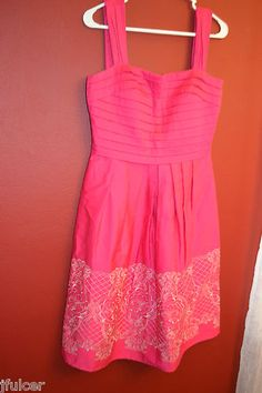 Cute Sangria Pink Fuchia summer party dress.