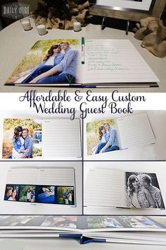 Affordable and Easy Custom Wedding Guest Book - DIY
