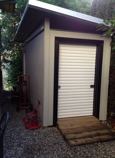 7 x 16 contemporary prefab storage shed located in west vancouver bc complete