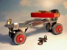 This was my first roller skates. Metal roller skates!!! With a skate key!