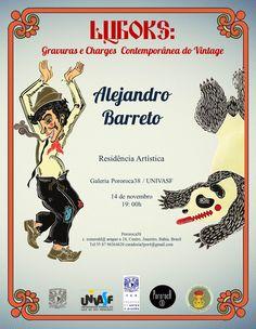 Cartel Luboks: grabados y caricaturas vintage Juazeiro Brasil Petrolina  Pororoca38 Alejandro Barreto