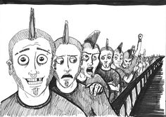 Ilustracion Punkis (Expresiones)