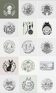 Studio Ghibli doodles by Liamashurst, Category city design ideas machine model printer studio Studio Ghibli Films, Art Studio Ghibli, Studio Ghibli Tattoo, Anime Tattoos, Body Art Tattoos, Feather Tattoos, Totoro, Studio Ghibli Wallpaper, Tattoo Studio