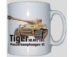 Tasse Tiger Panzer SD.KFZ 181 Panzerkampfwagen VI / mehr Infos auf: www.Guntia-Militaria-Shop.de
