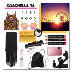 Pack for Coachella! by maki007 on Polyvore featuring polyvore fashion style Mynt 1792 H&M WILD & FREE Bobbi Brown Cosmetics Amazing Cosmetics Evian Sony clothing coachella polyvorecontest evian