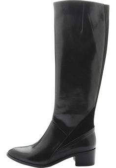 Long Boot W/Effect JJA15 Long Boots, Low Heels, Riding Boots, Heeled Boots, Leather, Black, Christmas, Fashion, High Heeled Boots