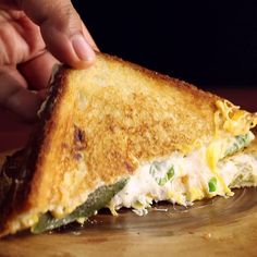 Popper Grilled Cheese Your favorite spicy appetizer became a crispy, grilled cheese entrée.Your favorite spicy appetizer became a crispy, grilled cheese entrée. I Love Food, Good Food, Yummy Food, Spicy Appetizers, Food Videos, Food To Make, Cooking Recipes, Steak Recipes, Spicy Food Recipes