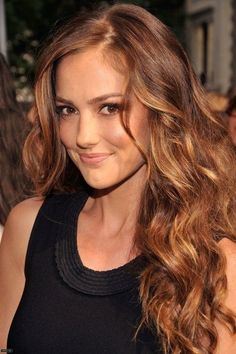 copper highlights for brunette hair - Google Search